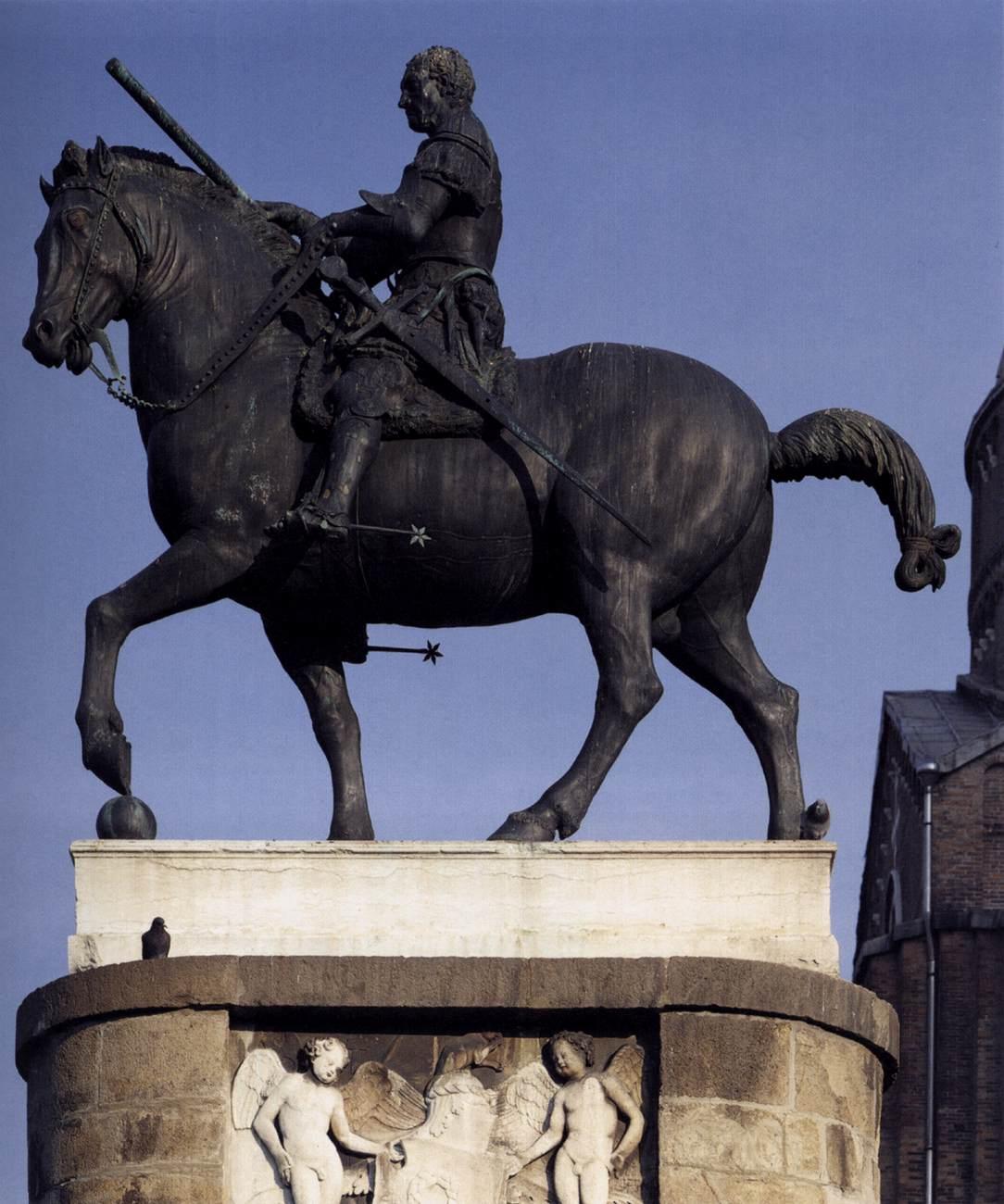 DONATELLO  Equestrian Statue of Gattamelata  1447-50  Piazza del Santo    Donatello Equestrian Statue Of Gattamelata
