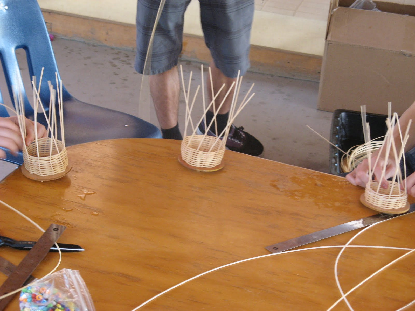 Materials Used For Making A Basket : Teaching handwork th grade waldorf basket weaving main