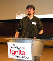 Jack at Ignite Ann Arbor