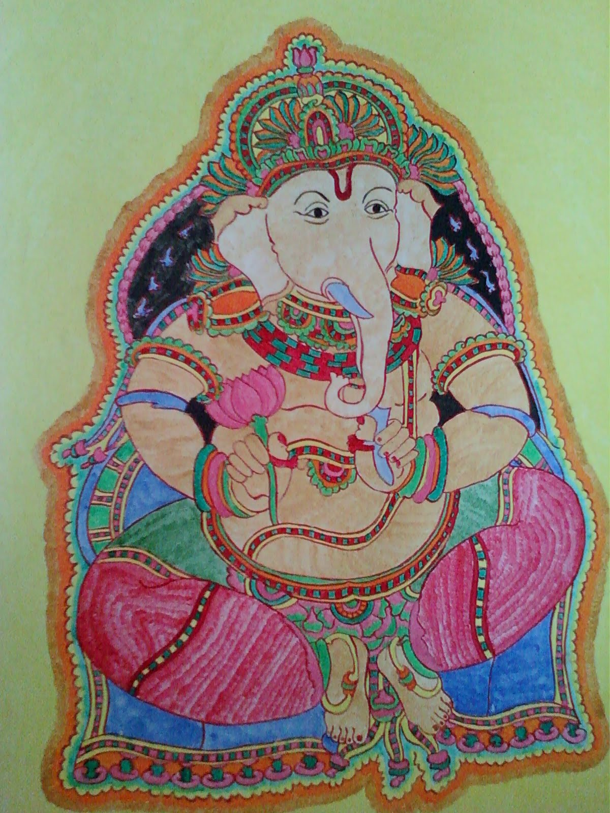 Ganesha on pinterest ganesha ganesh and ganesha for Mural art of ganesha