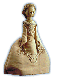 A typical 18th-century fashion doll