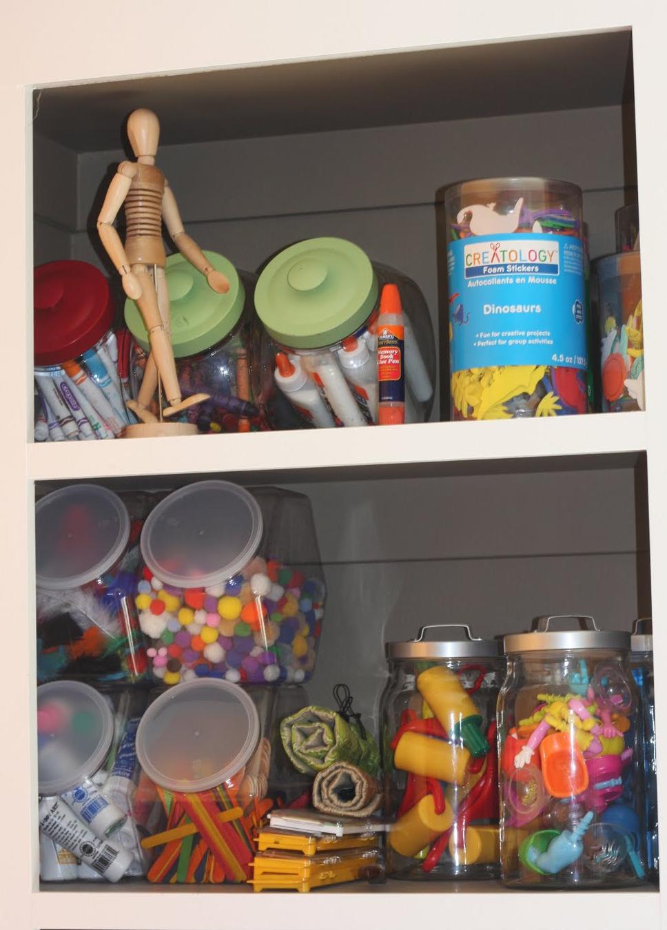 Organizing Children's Art Supplies