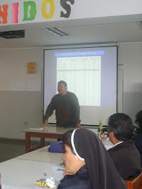 Con los docentes del área de Comunicación del colegio Niño Jesús de Praga, Callao