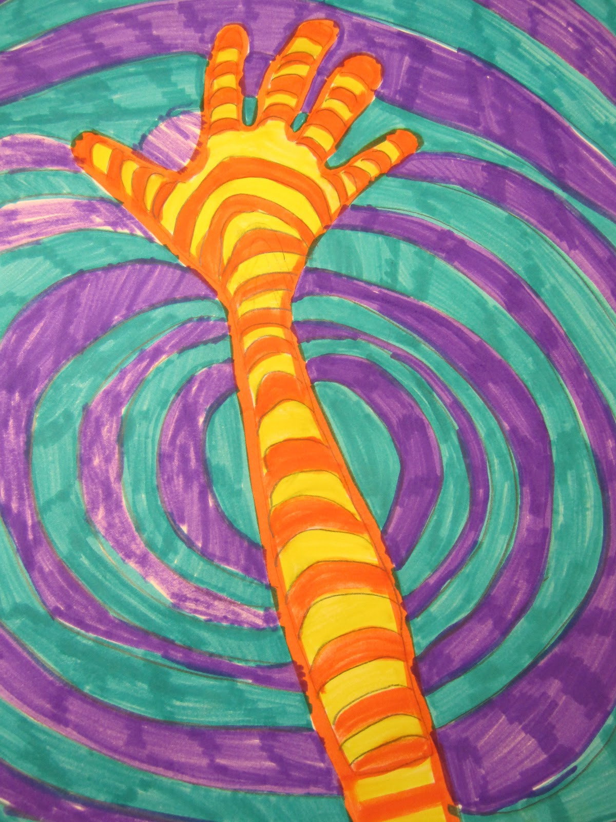Think Create Art Warm And Cool Color Hands 2nd Grade