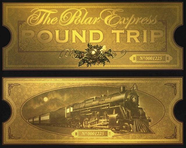 Polar Express Train Ticket Clip Art Polar express train ticket ...
