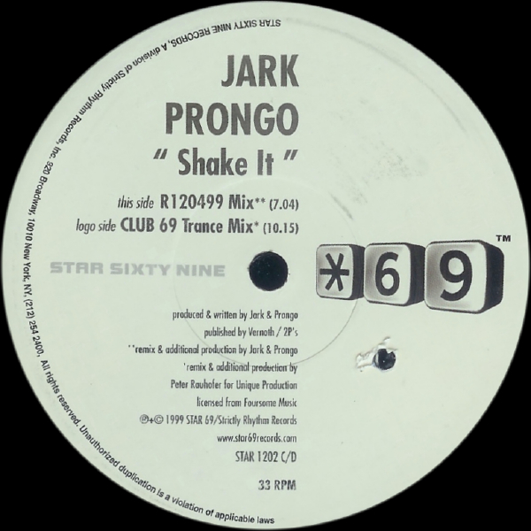 Jark Prongo Jark-Prongo Shake It