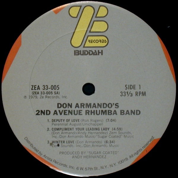 Don Armandos Second Avenue Rhumba Band Yo Tambien Soy Un Indio Deputy Of Love