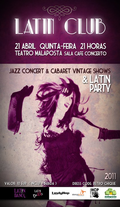 Latin Club - Jazz Concert, Cabaret Vintage Shows, Latin Party