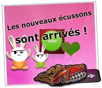 nouveaux ecussons sur customize.fr