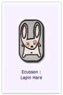 Ecusson Lapin hare Customize.fr