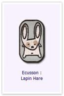 Ecusson Lapin hare Customize.fr