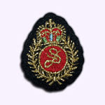 blason fashion patch brodé couronne rouge customize.fr