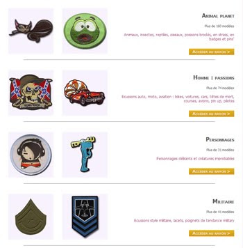 customiZe.fr : boutique Ecussons, strass, badges, pins', lacets