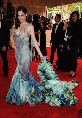 Model Coco Rocha in a Zac Posen Spring 2008 dress at the 2010 Met Ball