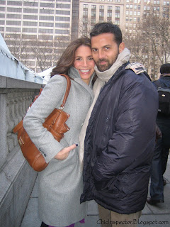 Suze Yalof Schwartz with Makeup artist Sergio Corvacho
