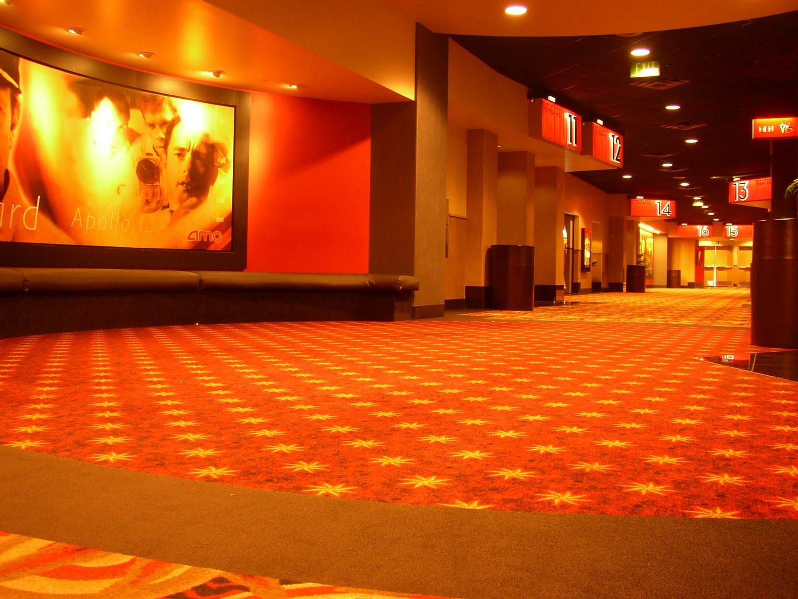 Back of theater chairs - Movie Theater Lobby Displays Amc Theater Hallways Often
