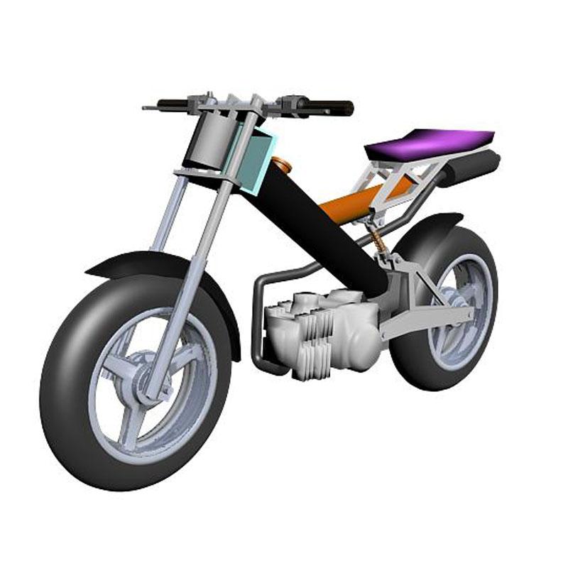 gambar 2. Desain 3D sepeda motor