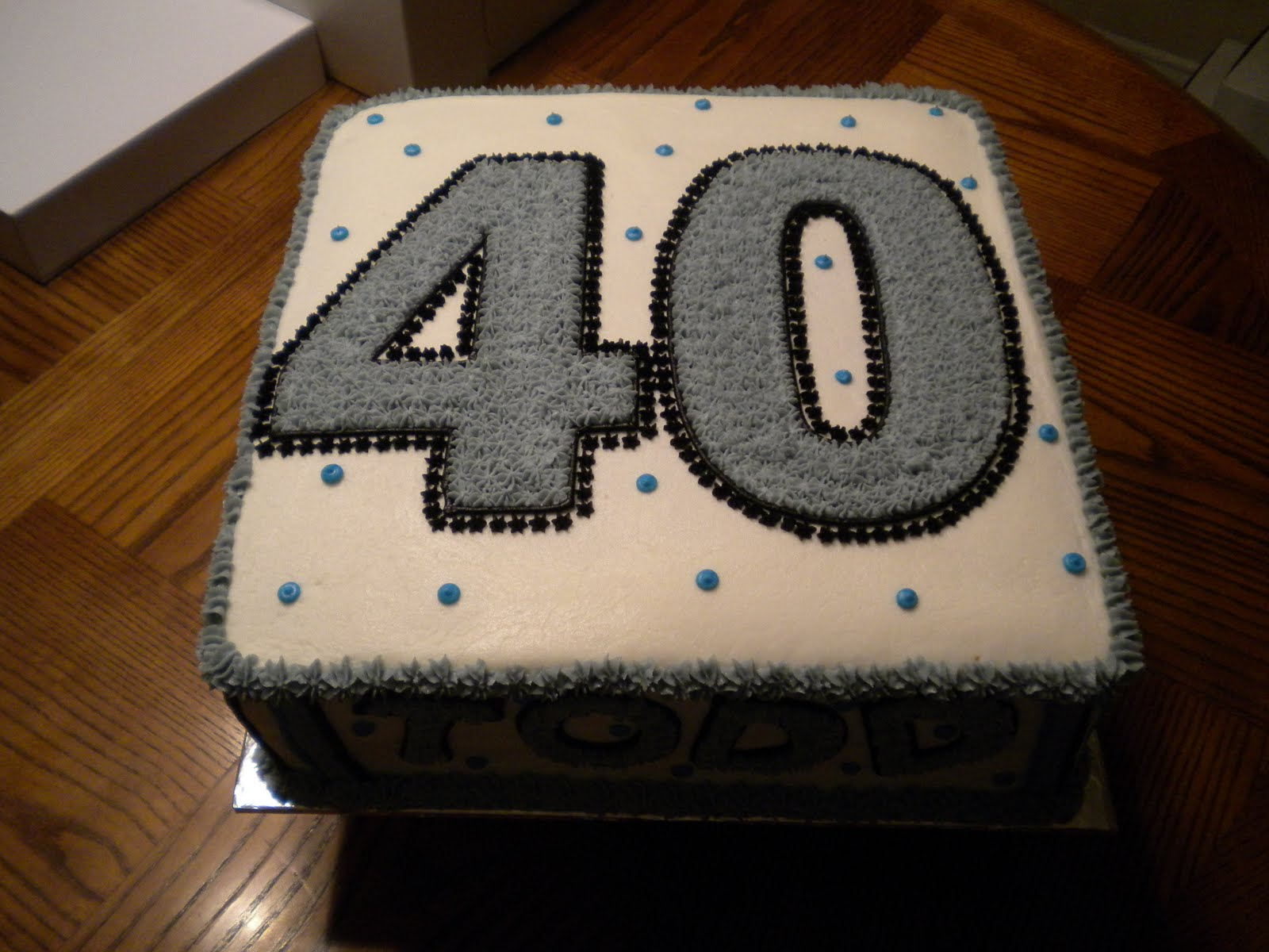 This was a cake for Todd Conway's 40th Birthday. It was a 12 inch ...