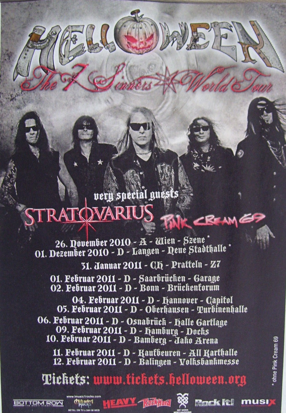 7 Sinners World Tour in Deutschland