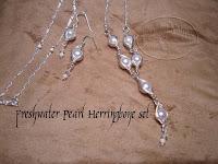 Freshwater Pearl Herringbone Set