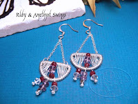 Ruby & Amethyst Swings Earrings