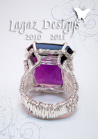 Amethyst Weave Ring by Lagaz Designs (Melissa Muir)