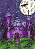 Purple Haunted house