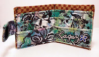 Graffiti wallet credit cards slots