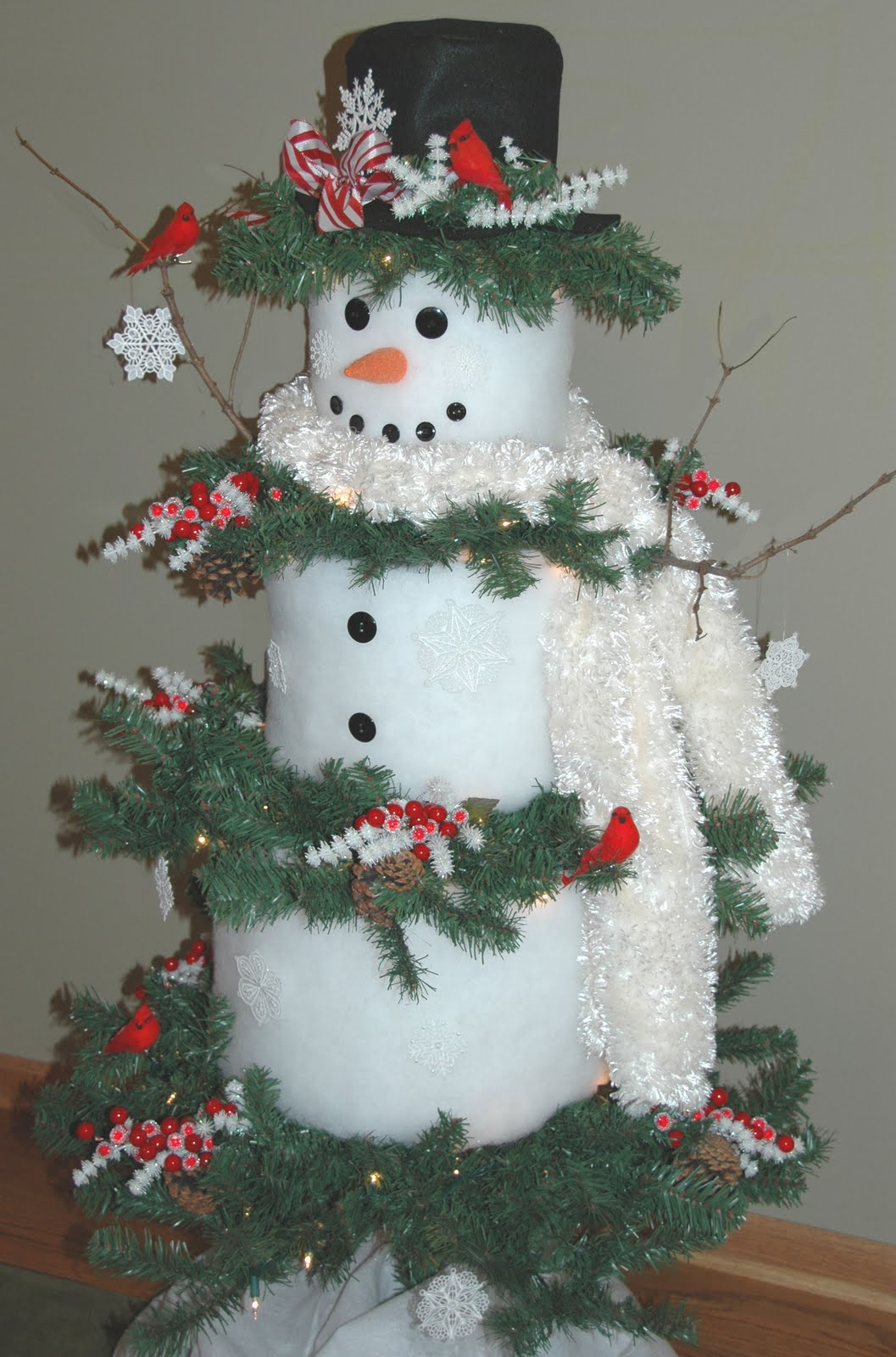 ... Snowman tree use a christmas tree as a base to make this fun snowman