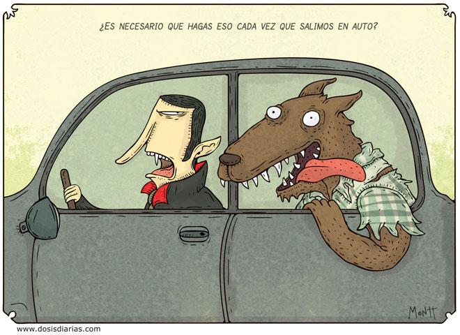 Humor halloween Paseo-monstruoso