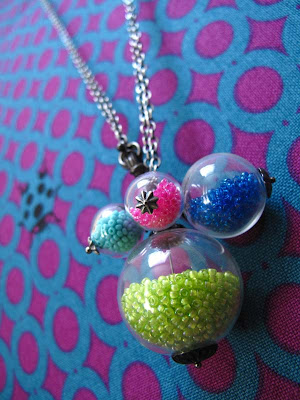 Bubble Gum Glass Necklace
