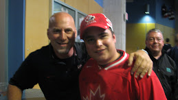 Earl and Sledge Goalie Paul Rosen from Team Canada