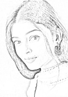 aishwarya rai pencil sketch