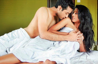paoli saheb in bed while shooting for Ruu