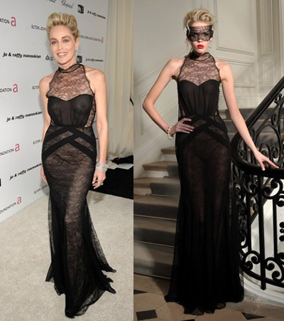 sharon stone oscars dress