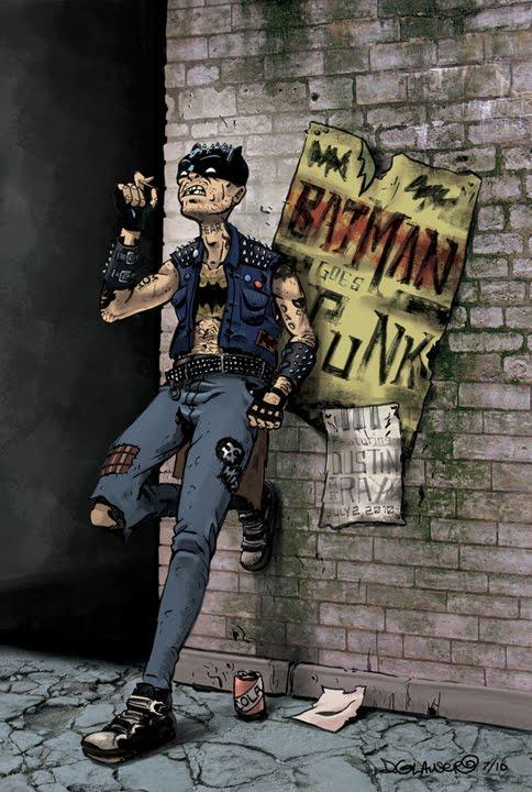 conceptsweekly  batman goes punk