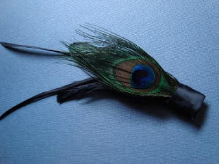 Black Peacock Eye Boutonniere