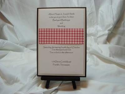 Backyard BBQ and Wedding Invitation