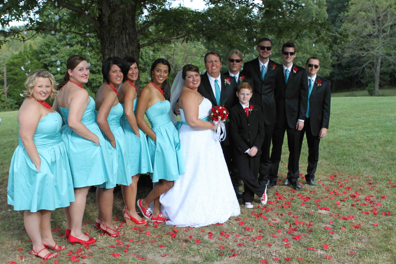 Teal And Red Wedding Viewing Gallery