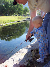 Grandpa teaching jax how to fish