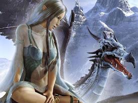 hada y dragón