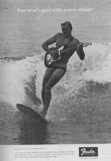 fender surf music publicité advertissment surfin estate blog surf culture