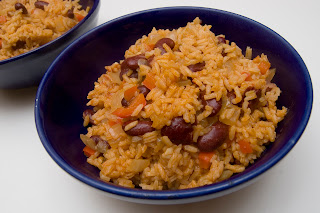 Picture shows: Puerto Rican Beans with rice