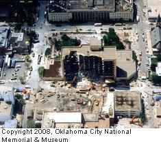 Aerial view of blast