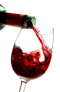 pouring wine into glass