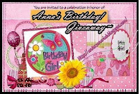 Anna's Birthday Giveaway