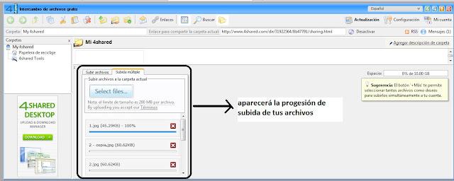 Como subir archivos a 4Shared para compartir tus creaciones en el foro [Fácil] 9