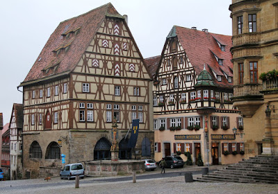beautiful building in Rothenburg ob der Tauber