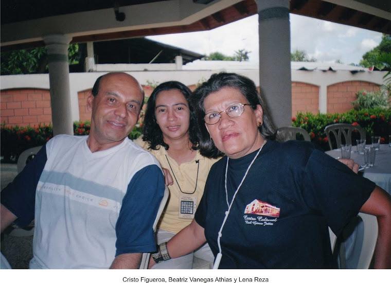 Cristo Figueroa, Beatriz Vanegas Athías y Lena Reza