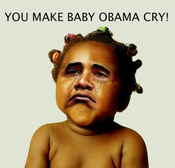 baby obama crying